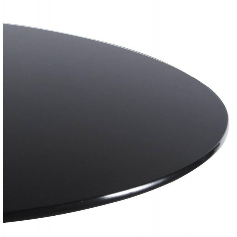 Table haute d'appoint BARY en verre et métal chromé (Ø 65 cm) (noir) - image 22081