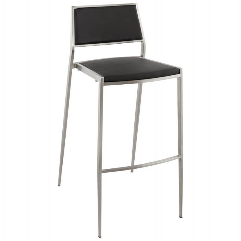 Tabouret de bar design et empilable SABRY (noir)