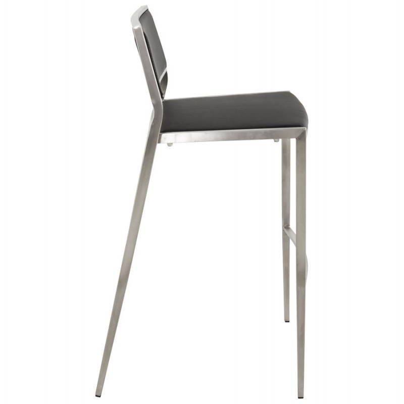 Tabouret de bar design et empilable SABRY (noir) - image 22086