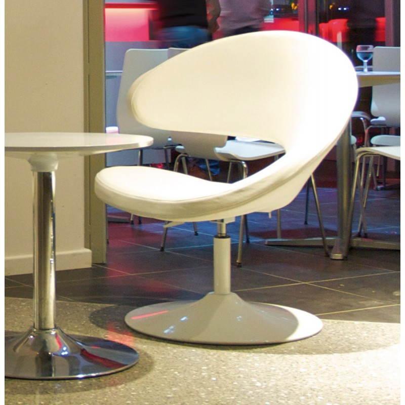 Fauteuil design et contemporain ROMANE en polyuréthane et acier peint (blanc) - image 22170