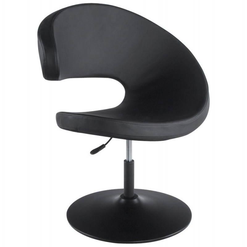 fauteuil design et contemporain romane en polyur thane et acier peint noir. Black Bedroom Furniture Sets. Home Design Ideas