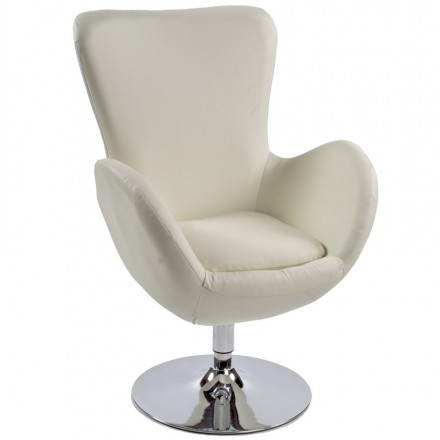 Design and contemporary armchair JAMES swivel (cream)