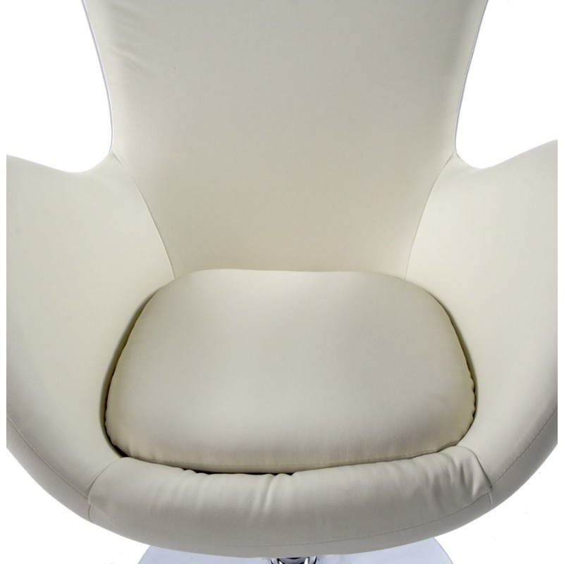 Fauteuil design et contemporain JAMES pivotant (crème) - image 22201