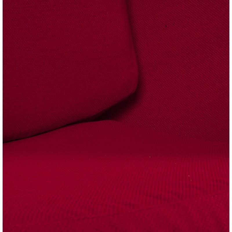 Sedia design OVALO in polimero e tessuto (bianco e rosso) - image 22217