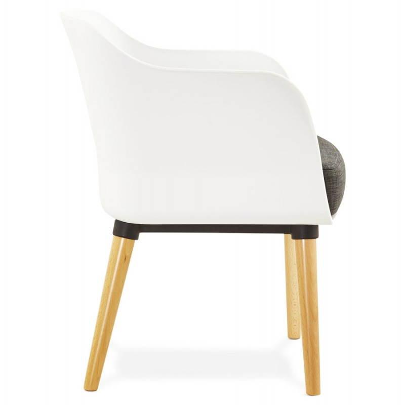 Textile armchair MAXIME style Scandinavian (dark grey) - image 22272