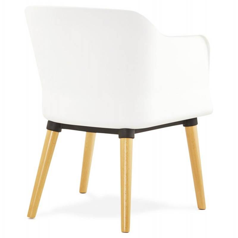 Textile armchair MAXIME style Scandinavian (dark grey) - image 22273