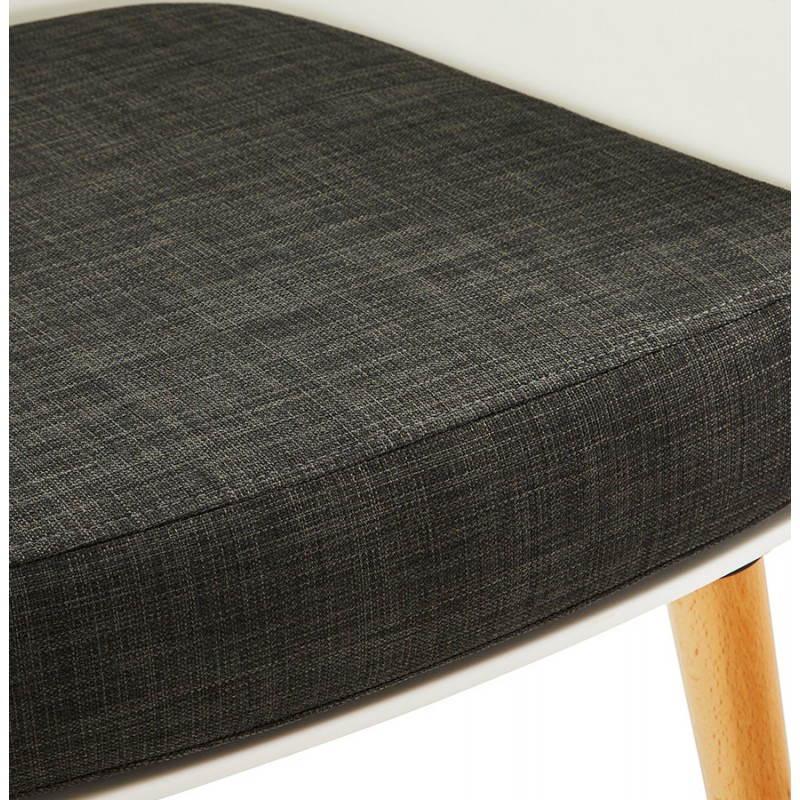 Fauteuil MAXIME en textile style scandinave (gris foncé) - image 22276