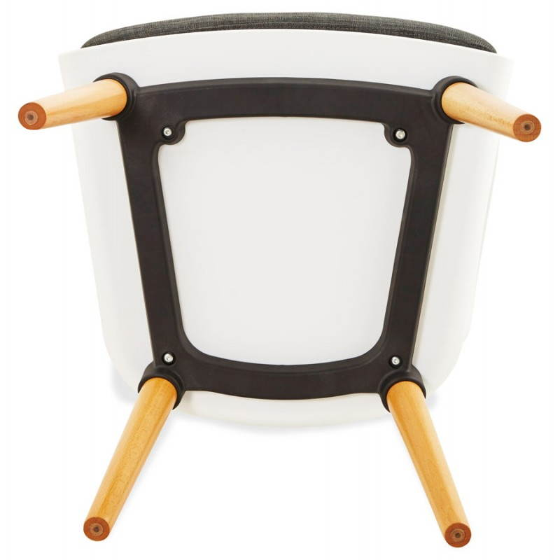 Textile armchair MAXIME style Scandinavian (dark grey) - image 22282