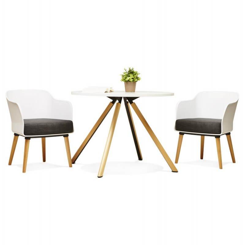 Fauteuil MAXIME en textile style scandinave (gris foncé) - image 22285