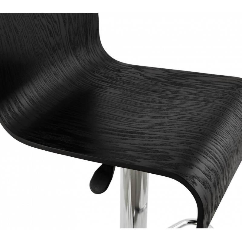 Design-Bar in Holz und Metall Hocker verchromt. Holz (schwarz) Öfen - image 22292