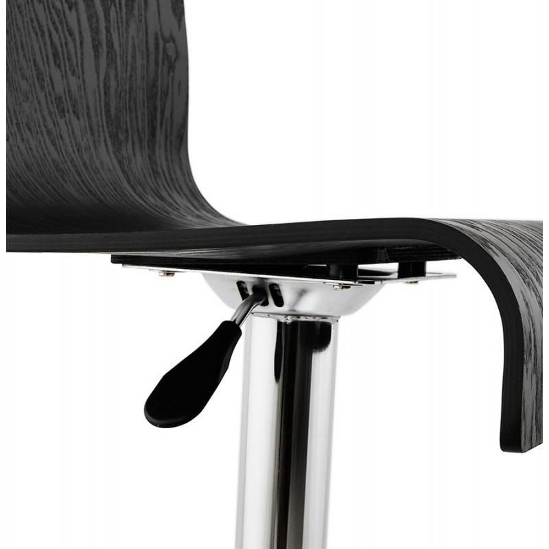 Design-Bar in Holz und Metall Hocker verchromt. Holz (schwarz) Öfen - image 22294