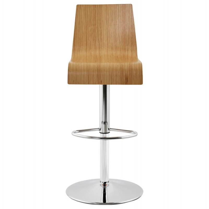 Tabouret de bar design FOURS en bois (naturel) - image 22303