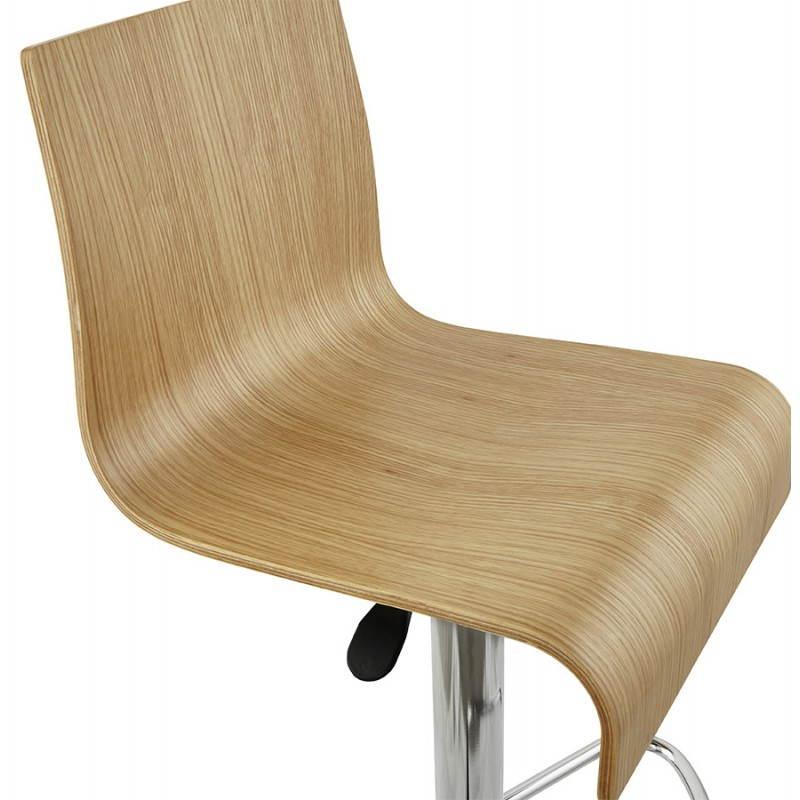 Tabouret de bar design FOURS en bois (naturel) - image 22308