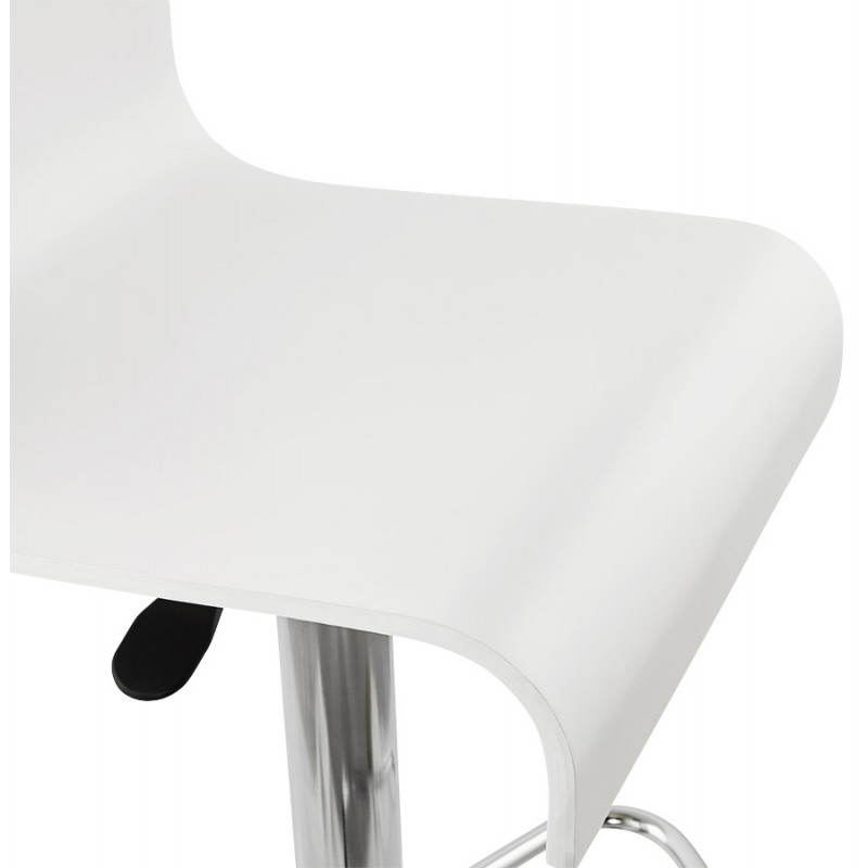 Design bar Venice (white) wooden stool - image 22324