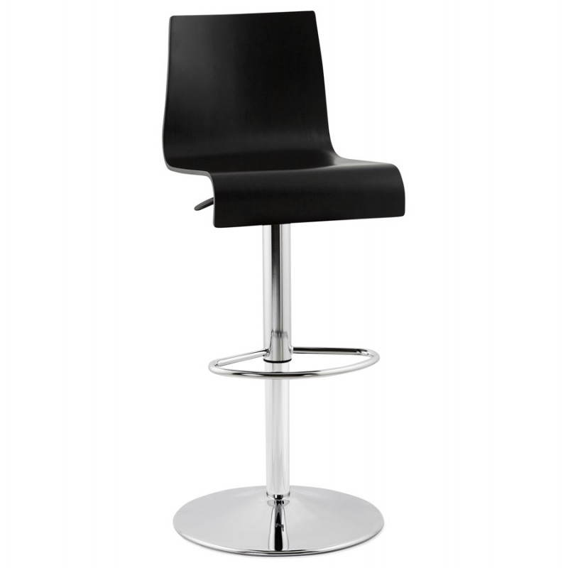 Venice design bar (black) wooden stool