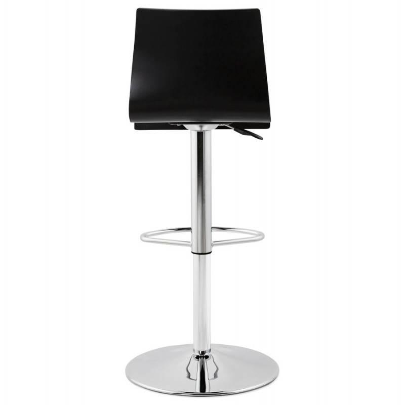 Tabouret de bar design VENISE en bois (noir) - image 22338