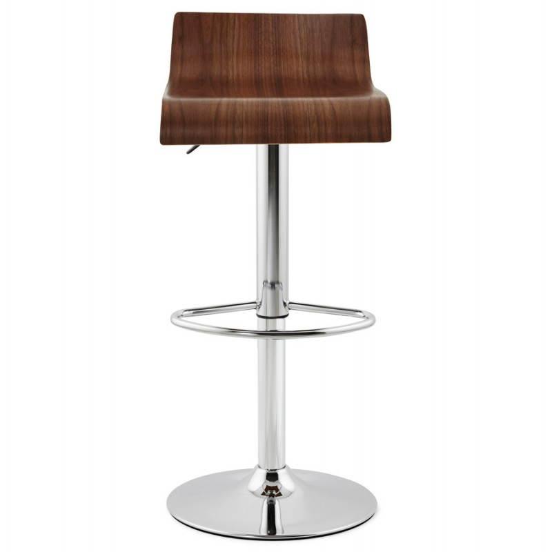 Tabouret de bar design ROME en bois (walnut) - image 22351
