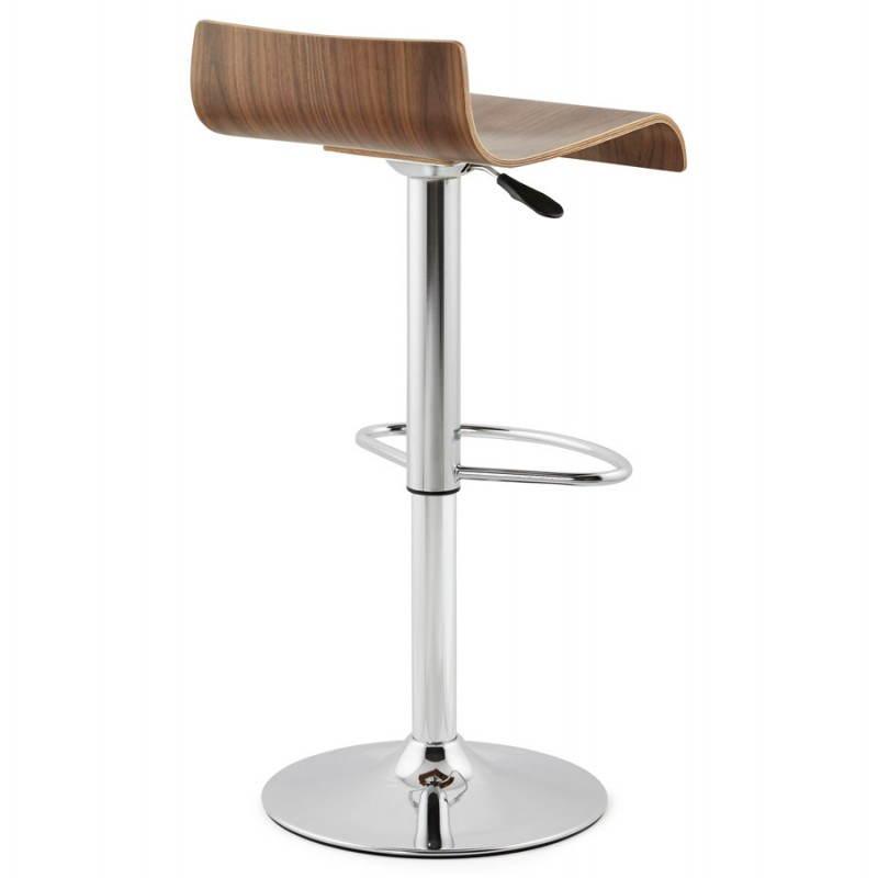Tabouret de bar design ROME en bois (walnut) - image 22353