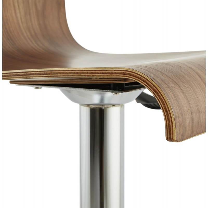 Tabouret de bar design ROME en bois (walnut) - image 22357
