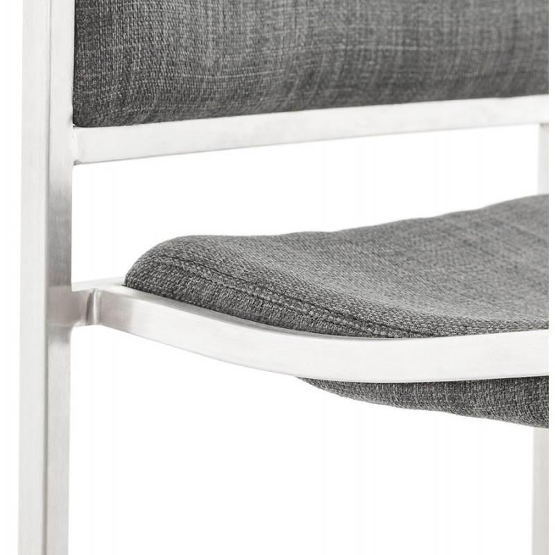 Tabouret de bar design SICILE en textile (gris) - image 22370