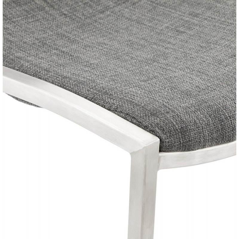 Tabouret de bar design SICILE en textile (gris) - image 22373