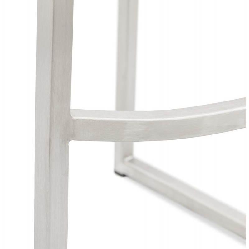 Tabouret de bar design SICILE en textile (gris) - image 22375