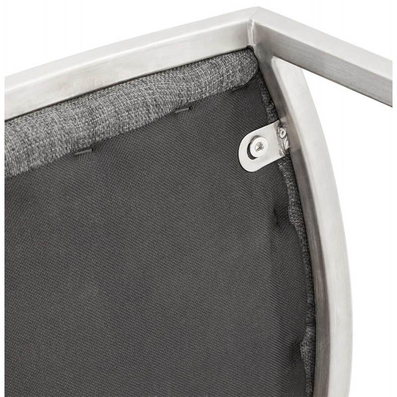 Tabouret de bar design SICILE en textile (gris) - image 22376