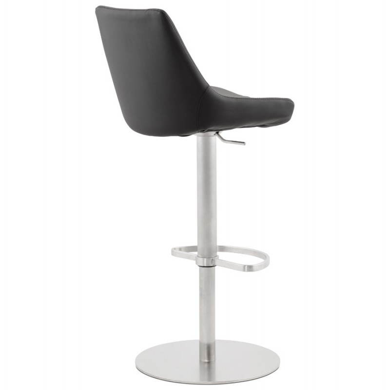 tabouret de bar design ambre rotatif et r glable noir. Black Bedroom Furniture Sets. Home Design Ideas