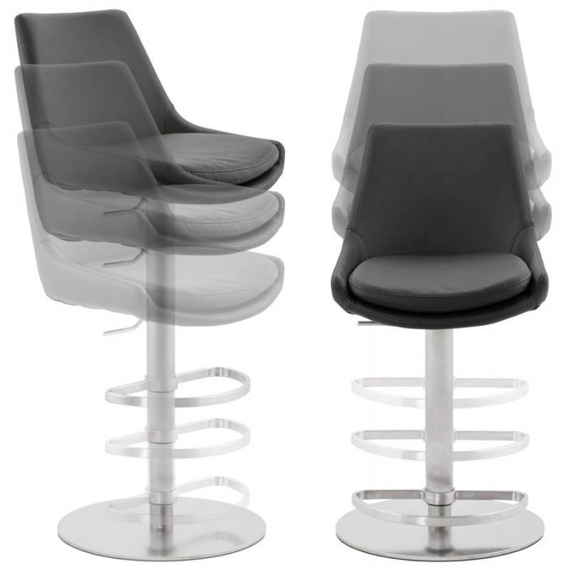 AMBRE rotating and adjustable design bar stool (black) - image 22384