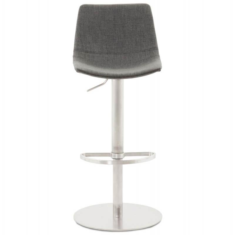 Tabouret de bar design BOLOGNE en textile (gris) - image 22394