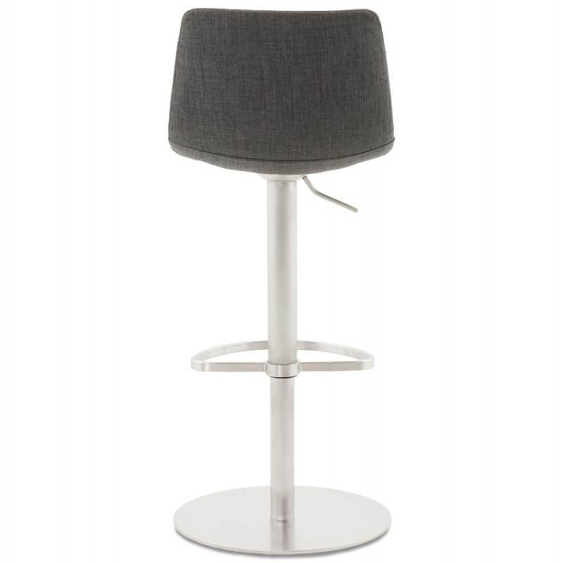 Tabouret de bar design BOLOGNE en textile (gris) - image 22397