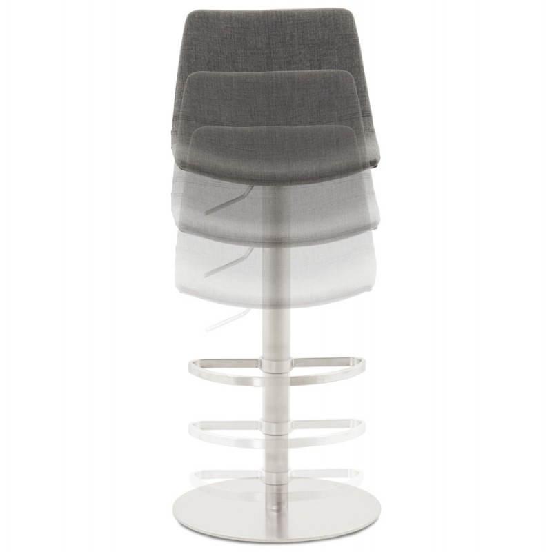 Tabouret de bar design BOLOGNE en textile (gris) - image 22399