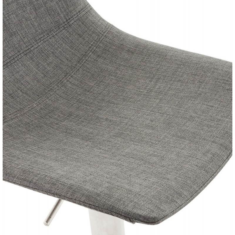 Tabouret de bar design BOLOGNE en textile (gris) - image 22401