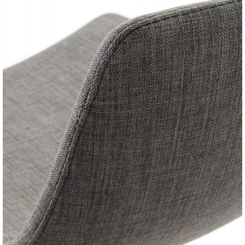 Tabouret de bar design BOLOGNE en textile (gris) - image 22404