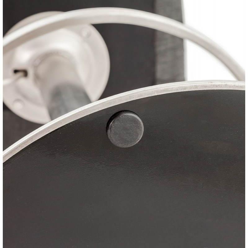 Tabouret de bar design BOLOGNE en textile (gris) - image 22425