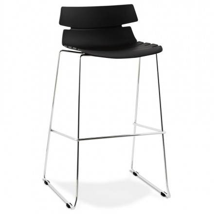 BRIO design bar (black) polypropylene stool
