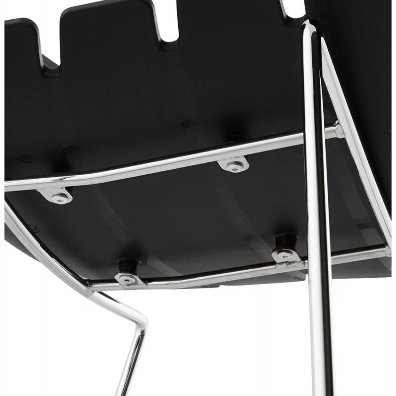 Tabouret de bar design BRIO en polypropylène (noir) - image 22437