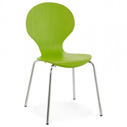 Catania (green) wooden multipurpose chair