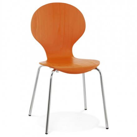 Versatile Chair Catania wooden (orange)