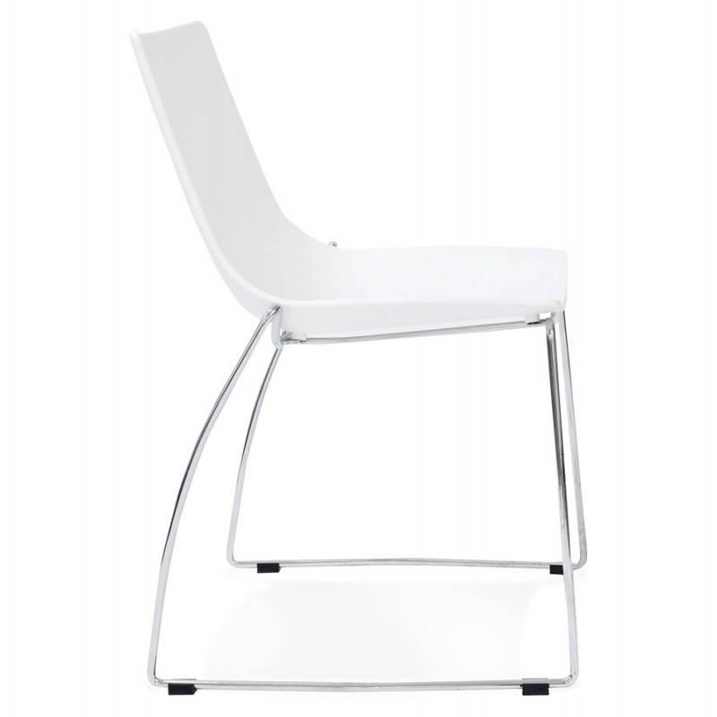 chaise design et moderne naples blanc. Black Bedroom Furniture Sets. Home Design Ideas