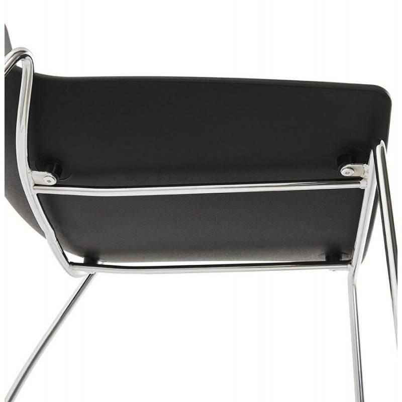 Chaise design et moderne NAPLES (noir) - image 22709