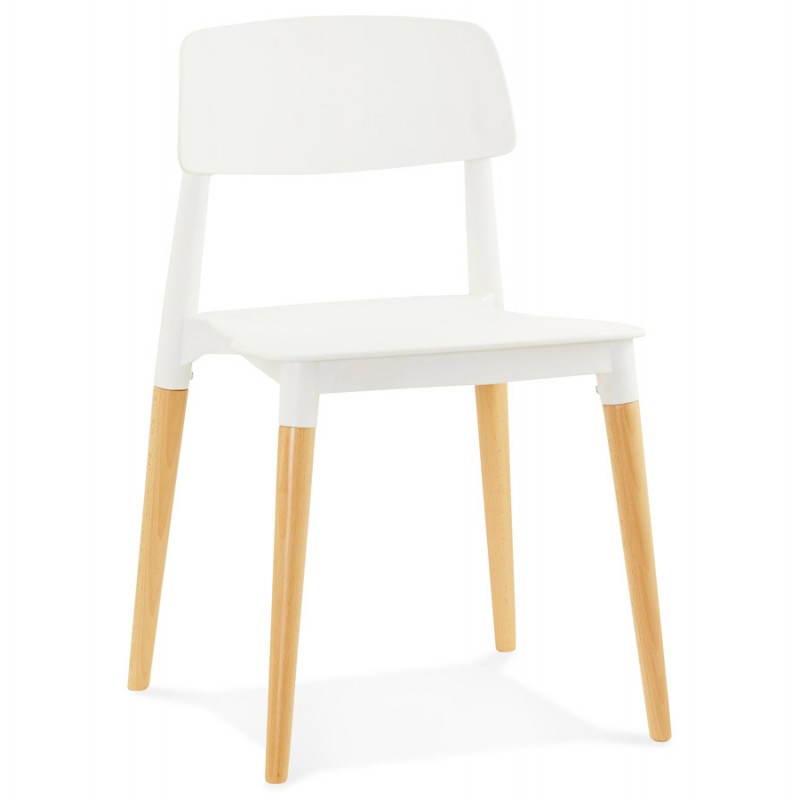 Chaise design style scandinave ASTI (blanc) - image 22733