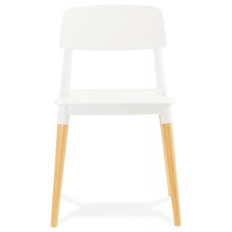 Chaise design style scandinave ASTI (blanc) - image 22734