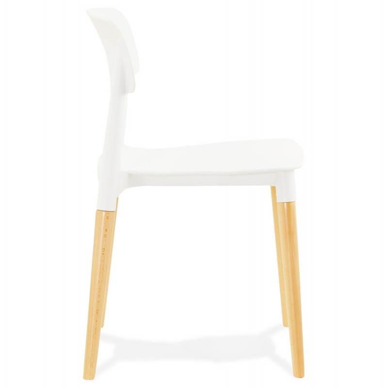 Chaise design style scandinave ASTI (blanc) - image 22735