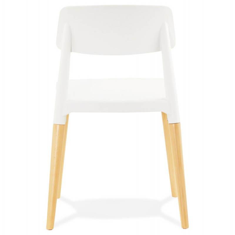 Chaise design style scandinave ASTI (blanc) - image 22737
