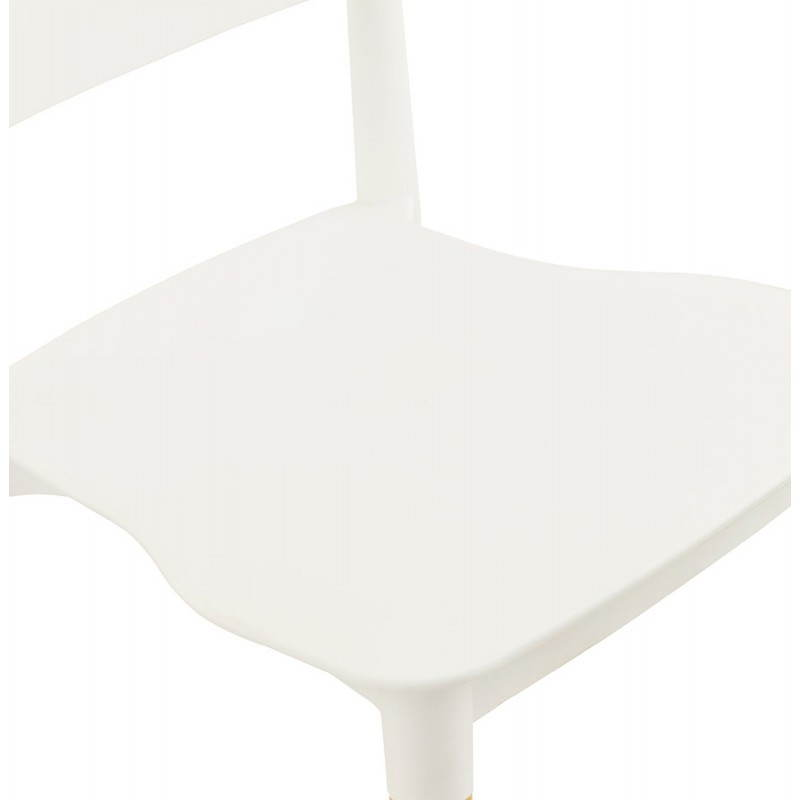 Chaise design style scandinave ASTI (blanc) - image 22738