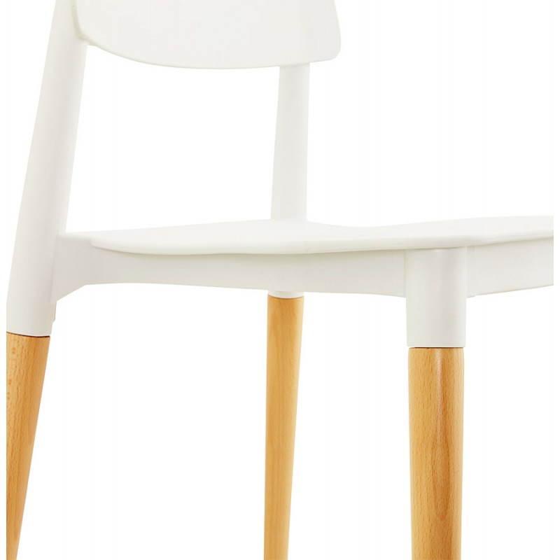 Chaise design style scandinave ASTI (blanc) - image 22739