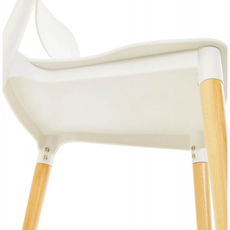 Chaise design style scandinave ASTI (blanc) - image 22742