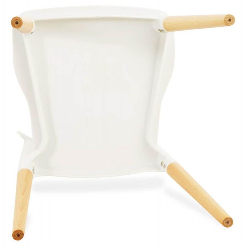 Chaise design style scandinave ASTI (blanc) - image 22744