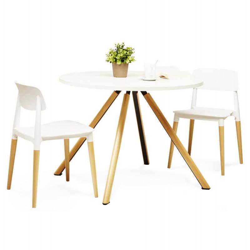chaise design style scandinave asti blanc. Black Bedroom Furniture Sets. Home Design Ideas